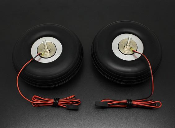 "Turnigy elétrica freio magnético 90 milímetros Sistema (3,50 "") de rodas (2pc)"