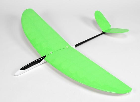 Borboleta Pod and Boom Glider V-Tail construção entre asa 1.140 milímetros - Green (ARF)
