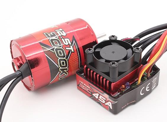 Turnigy TrackStar sem escova Waterproof 1/10 Super da Power System 3000Kv / 45A