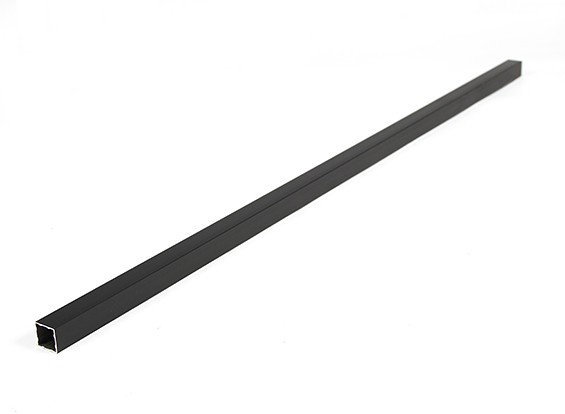 Alumínio tubo quadrado DIY 15x15x600mm Multi-Rotor (preto)