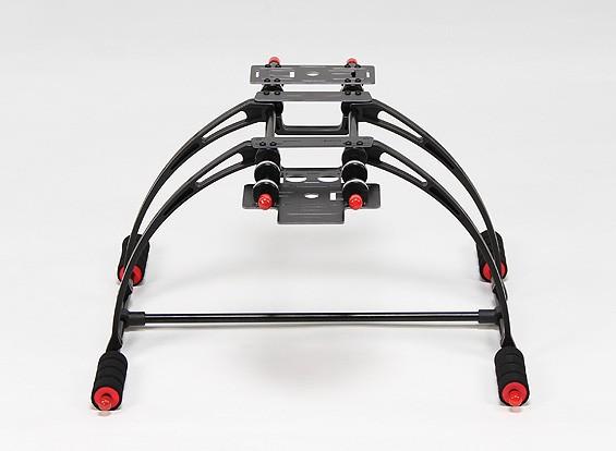 Deluxe multifunções Anti-Brake Care-de alta Crab FPV Landing Gear Set (Black)
