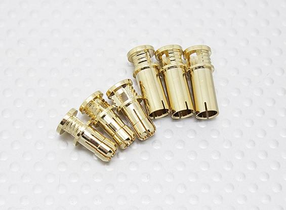 5 milímetros RCPROPLUS Supra X ouro Conectores de bala (3 pares)