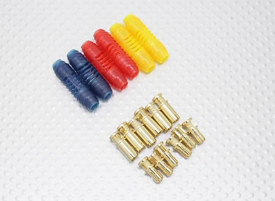 4 milímetros RCPROPLUS Supra X ouro bala Polarizado Conectores (6 pares)