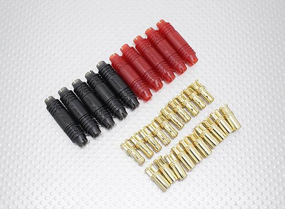 5 milímetros RCPROPLUS Supra X Bala ouro Conectores polarizado bateria (10 pares)