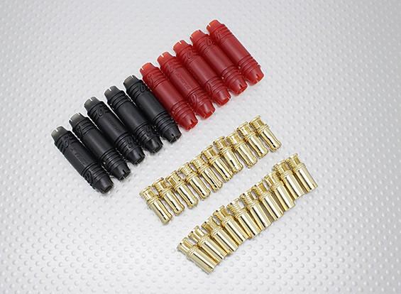 6 milímetros RCPROPLUS Supra X Bala ouro Conectores polarizado bateria (5 pares)