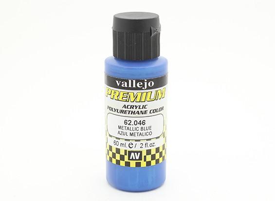 Vallejo cor Premium tinta acrílica - azul metálico (60 ml)