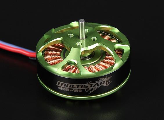 4108-480KV Turnigy Multistar 22 Pole sem escova Multi-rotor do motor com as ligações extra-longas
