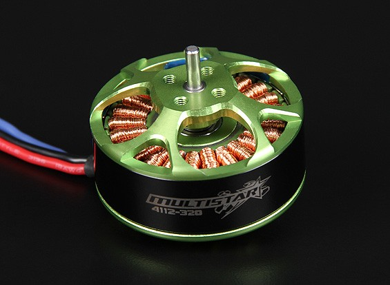 4112-320KV Turnigy Multistar 22 Pole sem escova Multi-rotor do motor com as ligações extra-longas