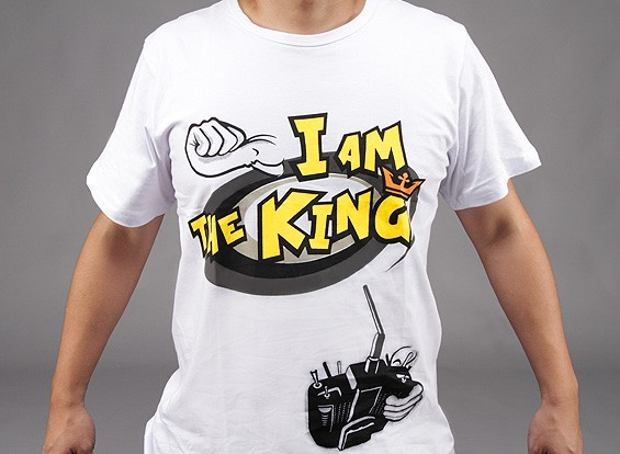 """""""Eu sou o rei"""" t-shirt HobbyKing (X-Large) - Oferta de Reembolso"""