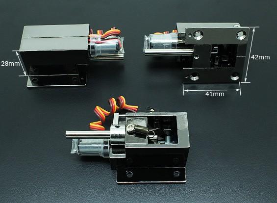 Turnigy Delux Injection Alloy Full Metal Servoless 90 retrai Degree (pino 5mm)