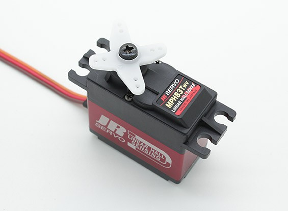 JR MPH83TWV Linear Municipal Sensing tensão larga Brushless Servo com Metal Gears e dissipador de calor