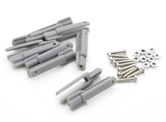 POM Clevis com parafuso (Grey) 10pc 2 milímetros