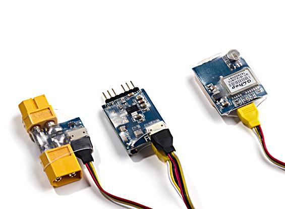 HobbyKing OSD minúsculo III (w / 10Hz GPS e 80A atual sensor)