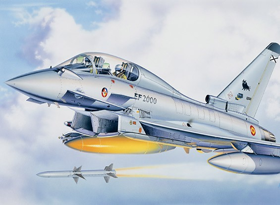Italeri 1/72 Escala EF-2000 Eurofighter Kit Plastic Modelo