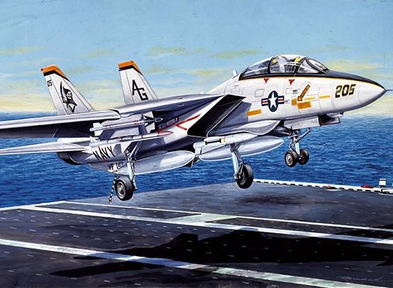 Italeri escala 1/72 Kit F-14A Tomcat Plastic Modelo
