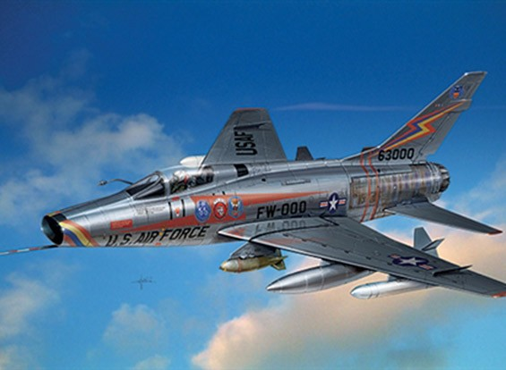 Italeri escala 1/72 Kit F-100 Super Sabre Plastic Modelo