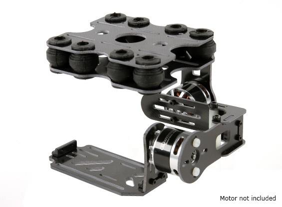 Absorção de choque Kit 2 Axis Brushless Gimbal de Acção Cam