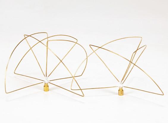 900Mhz Circular polarizada Set antena (SMA) (LHCP) (Short)