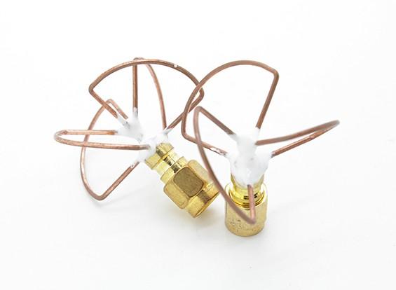 5.8GHz Circular polarizada antena SMA (Set) (Short)