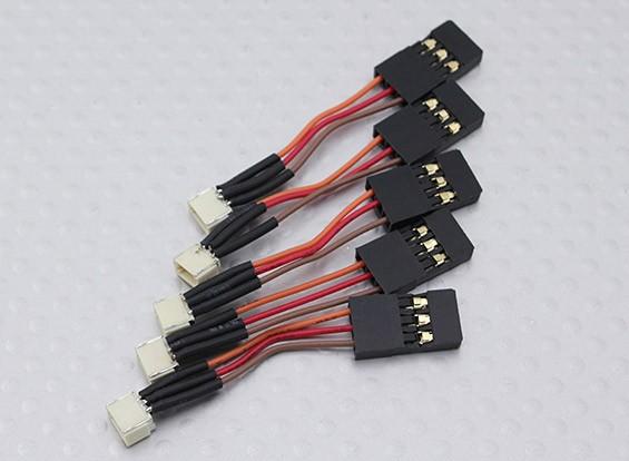 50 milímetros Feminino JST-SH 1,0 milímetros para Male JR (5pcs / bag)