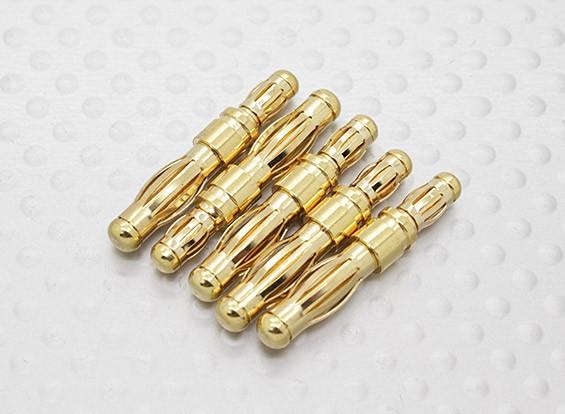 HXT 4 milímetros para 3.5mm (macho para macho) Adaptor (5pc)