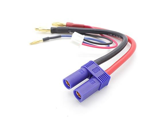 EC5 4,0 milímetros para 3,5 milímetros conectores de bala com JST Balance chumbo para 2s Hardcase LiPo pacote