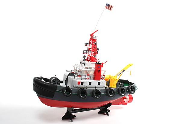 R / C SeaPort Fun Scale Tugboat 3ch (pronto para funcionar)