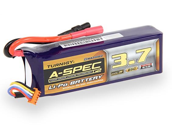 Turnigy nano-tecnologia A-Spec G2 3700mah 4S 65 ~ 130C Lipo pacote