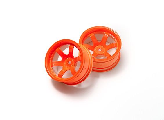 01:10 Rally rodas de 6 raios Neon Orange (9 milímetros Offset)
