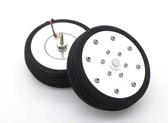 """Dr. MadThrust 3,25 """"/ 81,5 milímetros rodas principais com Electro sistema de travagem magnética (2pc)"""