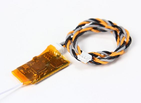 OrangeRx R100 DSM2 receptor de satélite compatível
