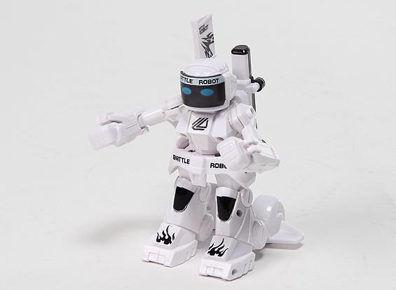 2 canais Mini R / C Batalha do robô com carregador (branco)