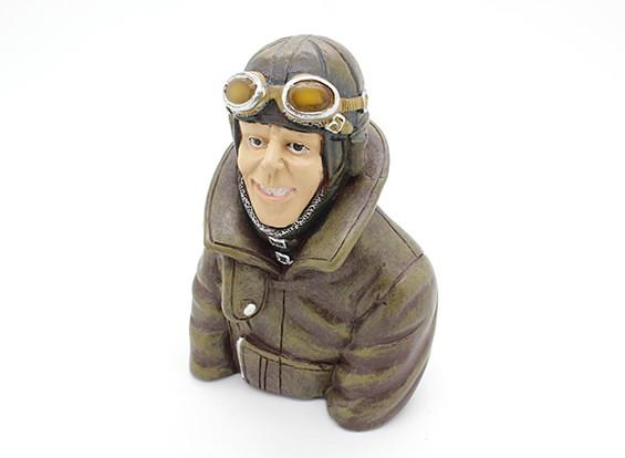 Guerra Mundial 1 Pilot Britânica (estilo 2) (H115 x W83 x D50mm)