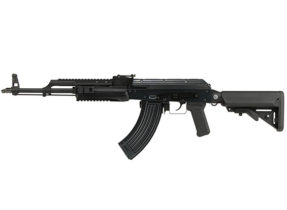 WE parafuso AK PMC Abrir GBB rifle (Black)