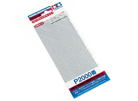 Tamiya acabamento molhado / seco lixa P2000 Grade (3pc)