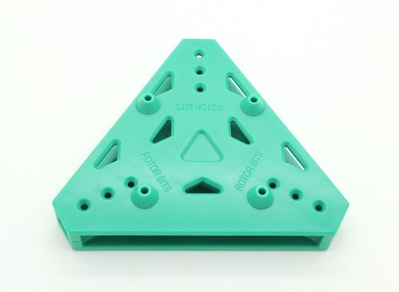 RotorBits Tri-Copter placa de montagem (verde)