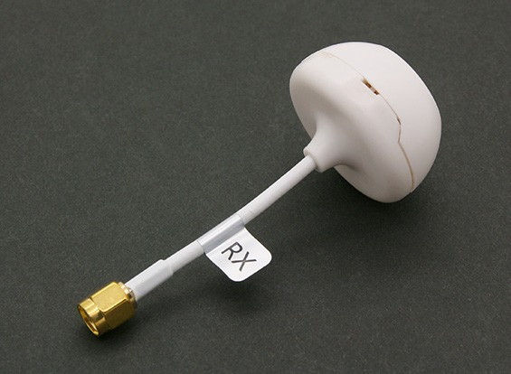5.8GHz Circular polarizada antena com tampa para o receptor (RP-SMA) (RHCP)