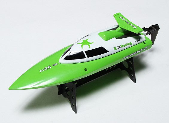 360 milímetros serpente 2 Mini V-Hull Corrida de Barco - Green (RTR)
