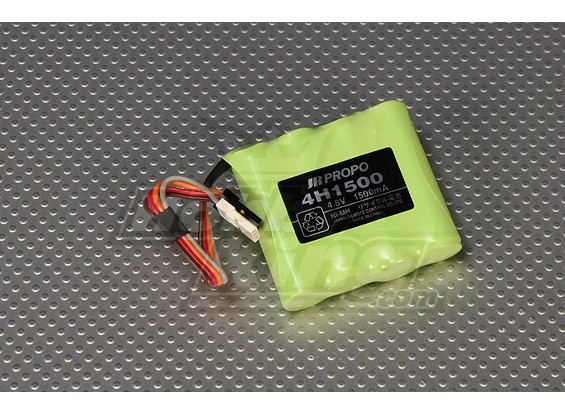 JR AA 1500mAh Receiver bateria Ni-MH 4.8V (New Version)