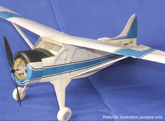 Parque Modelos Escala Wisp Series de Havilland Beaver Balsa (Kit)