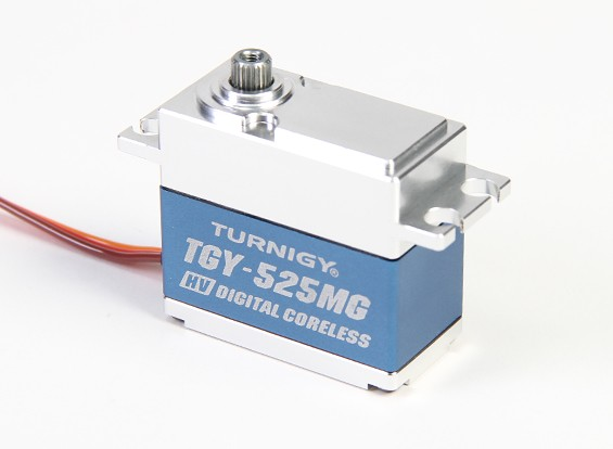 Turnigy ™ TGY-DS525MG Coreless HV / DS servo da cauda w / Alloy Case (760us) 7,5 kg / 0.04sec / 68g