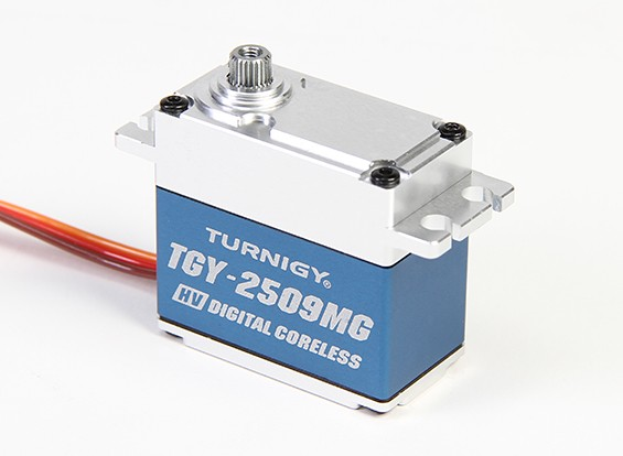 Turnigy ™ TGY-DS2509MG High Torque Coreles HV / DS / MG Servo w / Alloy Caso 28 kg / 0.10sec / 78g