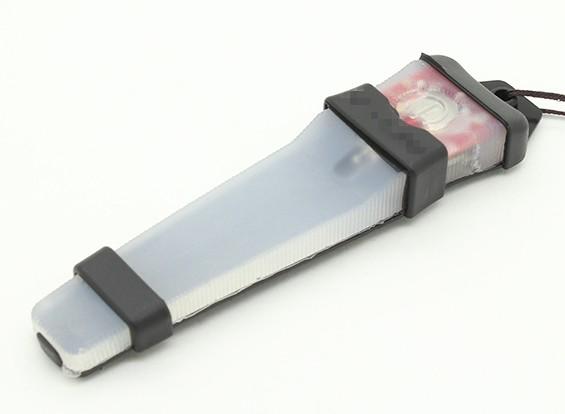FMA Velcro Luz de Segurança com a bandeja de preto (RED)