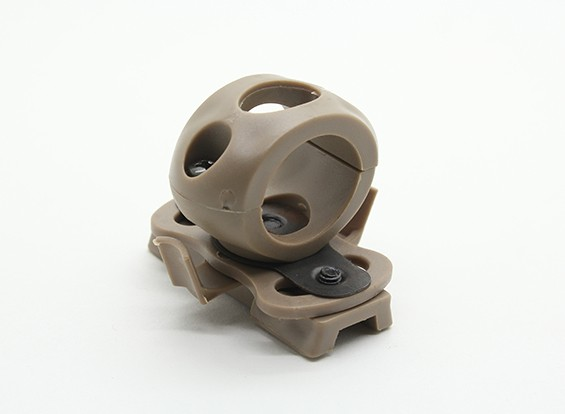 FMA 20 milímetros Lanterna para montar criticou Helmet (Terra Preta)
