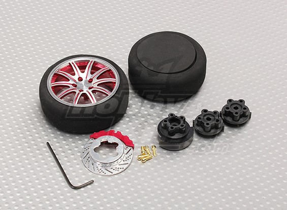 Alloy Pistol Transmissor Roda Rodar 10 Spoke (vermelho)