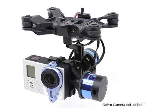 Tarot T-2D V2 GoPro 3 Brushless Câmara cardan e ZYX22 Controlador