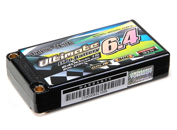 Turnigy nano-tech final 6400MAH 1S2P 90C Hardcase Pack (ROAR & BRCA Aprovado)