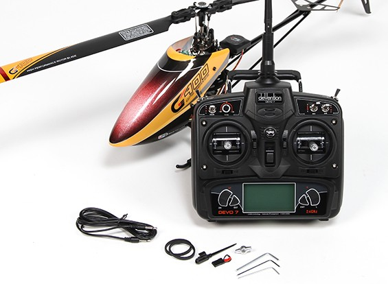Walkera G400 Series GPS 6CH Flybarless RC Helicopter w / Devo 7 (Modo 2) (pronto para voar)