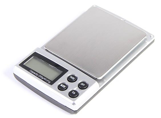 Digital Pocket escalas 0,01 g / 200g