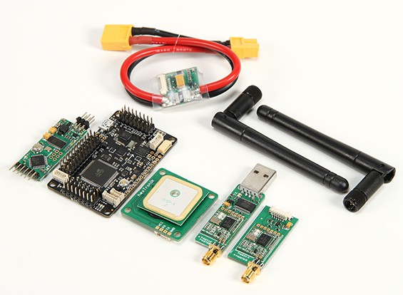 HKPilot mega 2.5.2 Mestre Set Com OSD, LEA-6H GPS, módulo de alimentação, telemetria via rádio (915MHz) (XT-60) (RU)